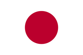 Free vector flag of Japan