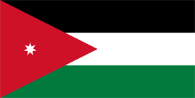 Free vector flag of Jordan
