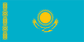 Free vector flag of Kazakhstan