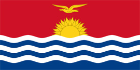 Free vector flag of Kiribati