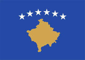 Free vector flag of Kosovo