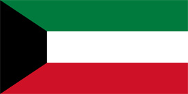 Free vector flag of Kuwait