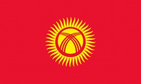 Free vector flag of Kyrgyzstan
