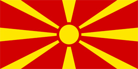 Free vector flag of Macedonia