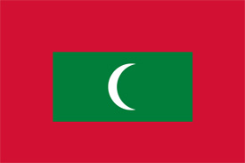 Free vector flag of Maldives