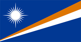 Free vector flag of Marshall Islands
