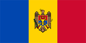 Free vector flag of Moldova