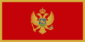 Free vector flag of Montenegro