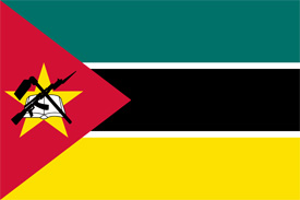 Free vector flag of Mozambique