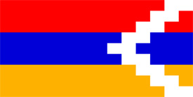 Free vector flag of Nagorno Karabakh