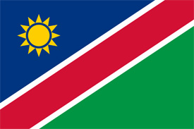 Free vector flag of Namibia