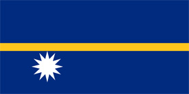 Free vector flag of Nauru