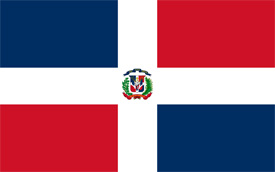 Free vector flag of Dominican Republic