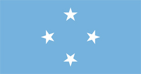 Free vector flag of the Federated States of Micronesia