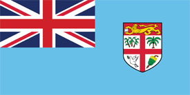 Free vector flag of Fiji