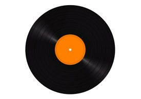 Free vector vinyl LP disc