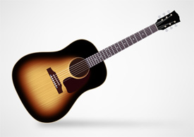 Gibson J-45 True Vintage Acoustic Guitar Free Vector