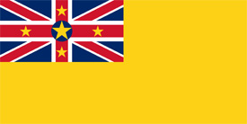 Free vector flag of Niue