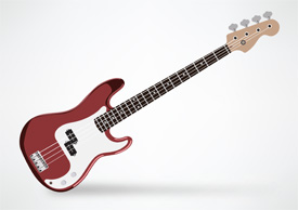 Fender Electric Bass Squier Custom P-Bass