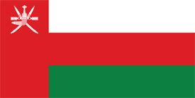 Free vector flag of Oman