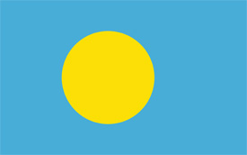 Free vector flag of Palau