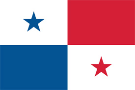 Free vector flag of Panama