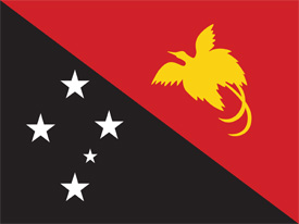Free vector flag of Papua New Guinea