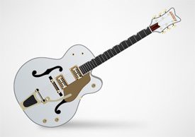 Gretsch White Falcon Guitar Free Vector