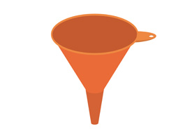Flat Funnel Vector Illustration