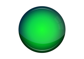 Green Glossy Round Empty Vector Button