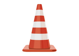 Red and White Traffic Cone