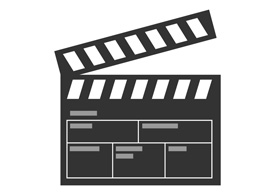 Flat Movie Flap Icon