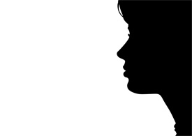 Beautiful Woman Face Silhouette