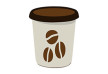 Flat Paper Coffee Cup Vector