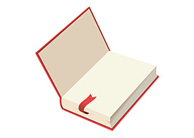 Open Book With Ribbon Marker