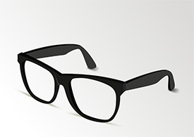 Zip Glasses Frame : Thick Frame Glasses