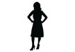 Woman With Hands On Hips Silhouette