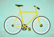 Yellow Flat Bike With Grain Texture