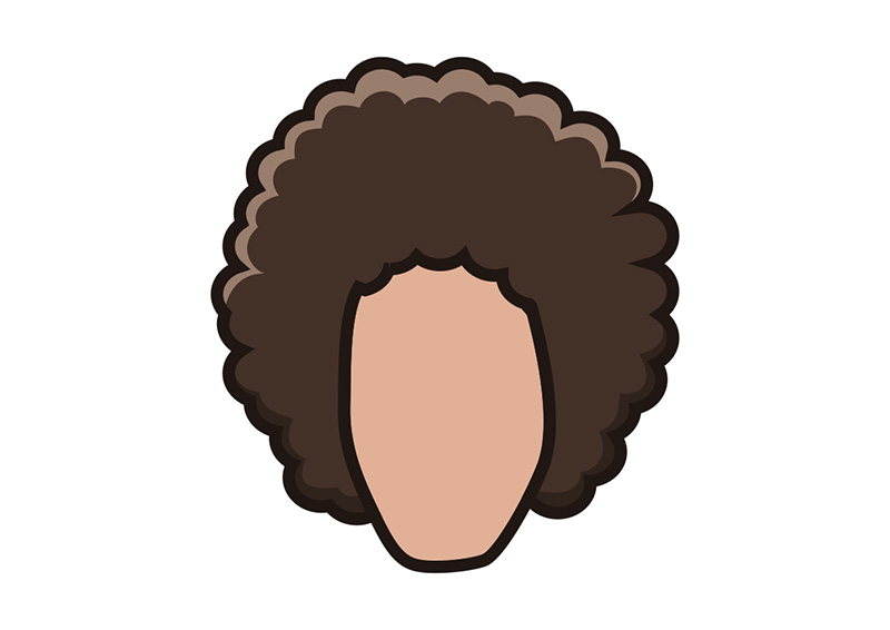 afro hairstyle cartoon characters hair vector
