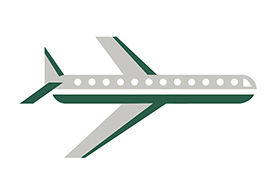 Flat Airplane Vector