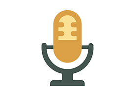 Old Microphone Flat Icon