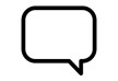Simple Talk Bubble Vector Icon