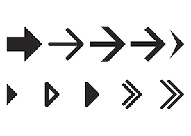 Simple Vector Arrows Icon Set