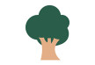 Tree Flat Simple Vector