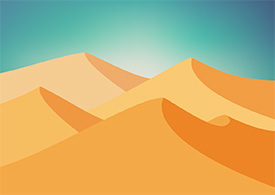 Vector Desert Landscape Background