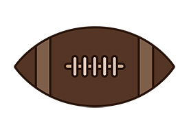 American Football Outline Flat Vector