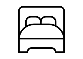 Bed Outline Vector Icon