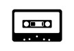 Black And White Audio Tape Vector
