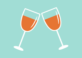 Cheers Glasses Flat Vector