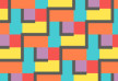 Colorful Checked Zigzag Vector Pattern